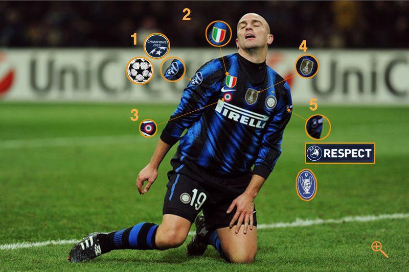 Los parches del campeón Inter