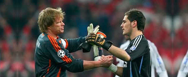 Oliver Kahn e Iker Casillas, en 2007