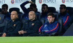 Messi, en la banca ante el Bayern