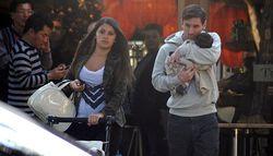 Lionel Messi y su hijo Thiago