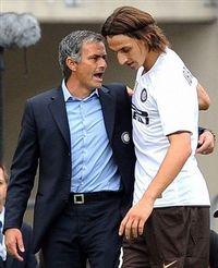 Mourinho, en la temporada de su primer scudetto con el Inter, antes de mandar a Ibrahimovic al Barcelona