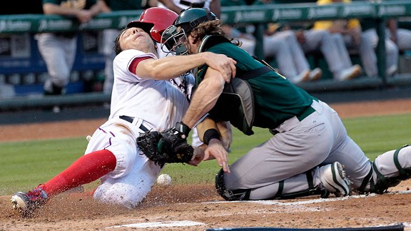 Catcher collision