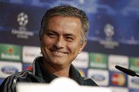 Mourinho, sonriente durante la conferencia de prensa previa al partido contra el Manchester United, en febrero