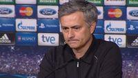 Una de sus últimas conferencias de prensa con el Madrid, después de enfrentar al Borussia Dortmund