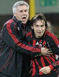 Ancelotti y Pirlo